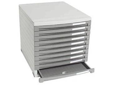 HAN Schubladenbox Contur grau mit 10 Schubladen