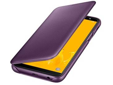 SAMSUNG Wallet Cover Handy-Hülle für SAMSUNG Galaxy J6 purple