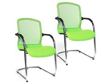 2 Topstar Open Chair 100 Besucherstühle grün