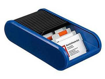 helit Visitenkartenbox blau/schwarz