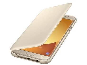 SAMSUNG Wallet Cover Handy-Hülle für SAMSUNG Galaxy J7 (2017)  gold