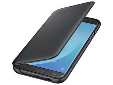 SAMSUNG Wallet Cover Handy-Hülle für SAMSUNG Galaxy J7 (2017)  schwarz