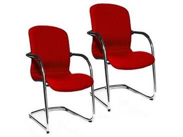 2 Topstar Open Chair 110 Besucherstühle rot