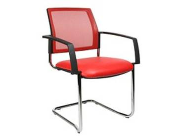 2 Topstar BtoB 20 Besucherstühle rot