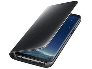 SAMSUNG Clear View Standing Cover Handy-Hülle für SAMSUNG Galaxy S8 schwarz