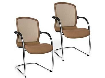 2 Topstar Open Chair 100 Besucherstühle braun