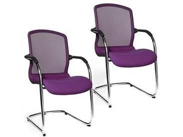 2 Topstar Open Chair 100 Besucherstühle lila