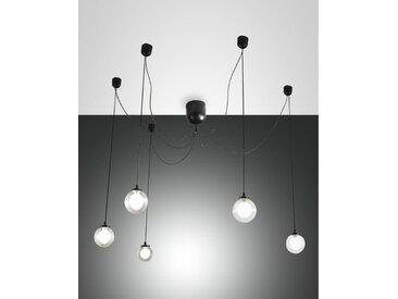 Spinnen Hängelampe schwarz Fabas Luce Blog LED 2250lm 5-flg. dimmbar