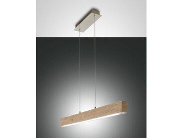LED Hängelampe Holz Eiche Fabas Luce Badia 3870lm 3000K Tastdimmer