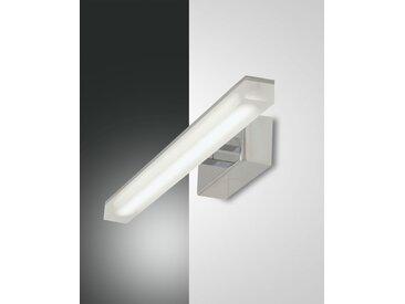 LED Spiegelleuchte chrom Fabas Luce Saura 460mm 900lm 3000K
