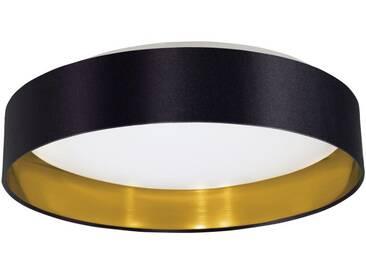 EGLO MASERLO LED Textil Deckenleuchte, rund, 405mm, schwarz, gold