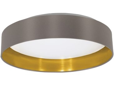 EGLO MASERLO LED Textil Deckenleuchte, rund, 405mm, cappuccino