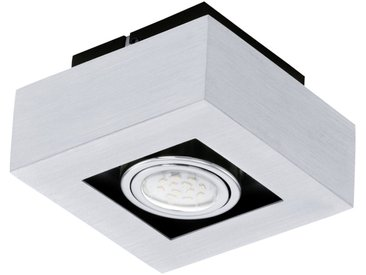 EGLO LOKE 1 LED Aufbauleuchte 1er, GU10 alu-gebürstet, chrom, schwarz