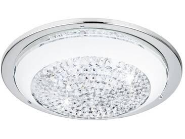 EGLO ACOLLA LED Deckenleuchte Ø290, 1-flg., chrom, weiss, klar