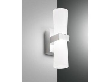 LED Spiegelleuchte chrom Fabas Luce Iglesias 720lm 2-flg.