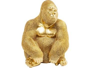 Deko Figur Monkey Gorilla Side Medium Gold