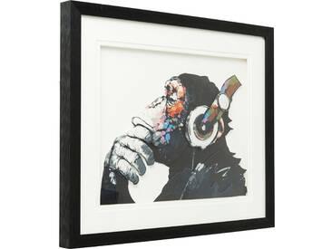 Bild Frame Art Monkey Musik 60x50cm