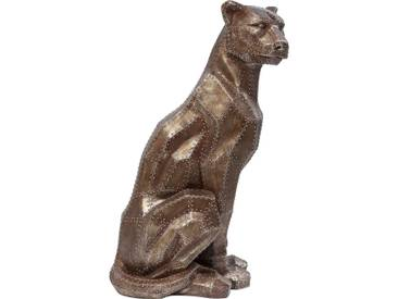 Deko Figur Sitting Cat Rivet Kupfer