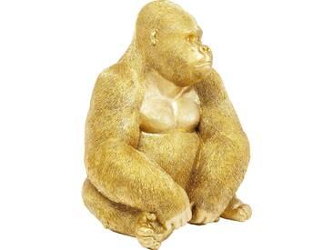 Deko Figur Monkey Gorilla Side XL Gold