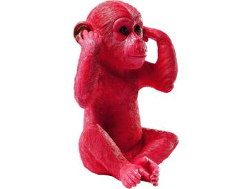 Spardose Monkey Kikazaru Rot