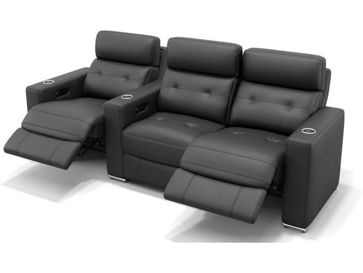 Leder Kino 3 Sitzer Couch MATERA Relaxsofa in R...