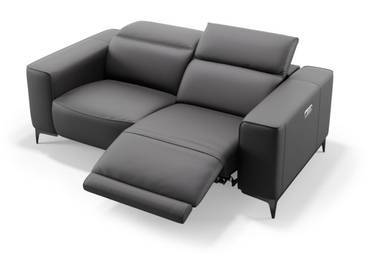 Leder Designsofa TERAMO 2-Sitzer Sofa
