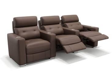 Leder 3-Sitzer Kinosofa MATERA mit Funktion
