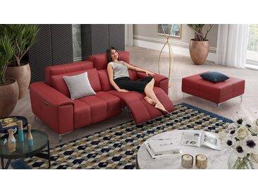 Leder Couch hochwertig & Relaxfunktion SALENTO Leder Sofa