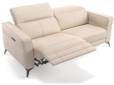 Leder 3 Sitzer Sofa MODICA mit elektrischer Sitzfunktion