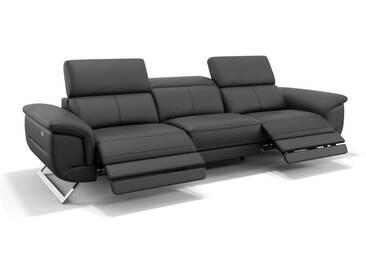 Leder 3 Sitzer Couch MATRICE Ledercouch italienisch & modern