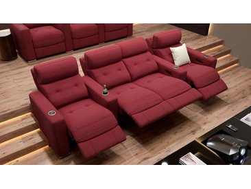 Stoff 4-Sitzer Relaxcouch MATERA Kinosofa