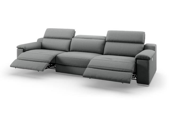 3-Sitzer Sofa XXL MACELLO mit Relaxfunktion Grau
