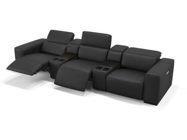 Leder 3-Sitzer Kinosessel BINETTO Sofa Kinocouch