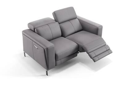 Designer Couch Leder CASOLI 2-Sitzer