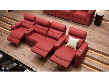 Leder 4-Sitzer Relaxsofa MATERA Heimkino Sofa