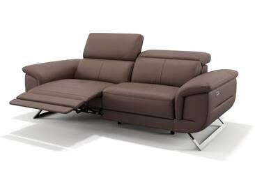 Leder 2-Sitzer Sofa MATRICE Relaxsofa mit Sitzverstellung
