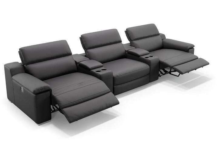 Kino Sofa MACELLO 3-Sitzer mit Mittelkonsolen S...