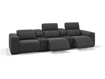 Stoff 3-Sitzer Kino Sessel BINETTO Couch Kinosofa