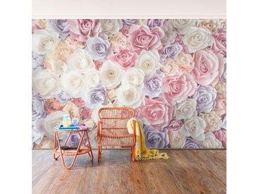 Vliestapete Pastell Paper Art Rosen