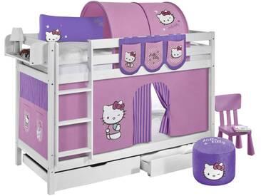 Etagenbett JELLE Hello Kitty Lila