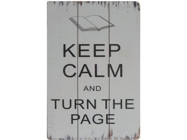Schild Turn the Page