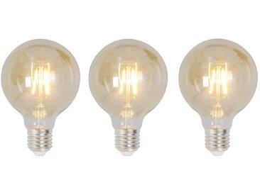 LED-Leuchtmittel Mendota (3er-Set)