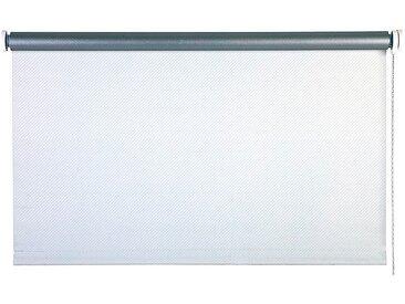 Verdunklungsrollo Streifen/Weiß