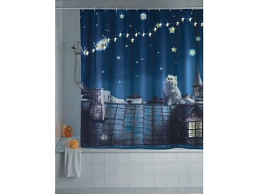 LED-Duschvorhang Moon Cat