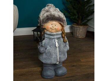 Dekofigur Winterkind Mädchen