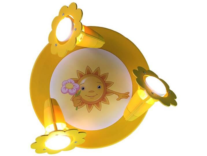 Deckenleuchte Sonne mit Blume Gelb