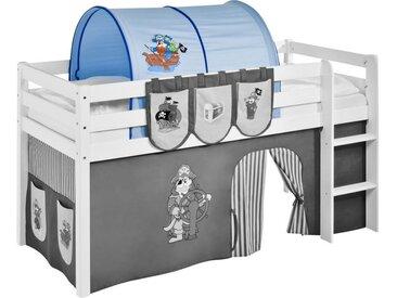 Tunnel für Hochbett Spielbett Pirat-Blau