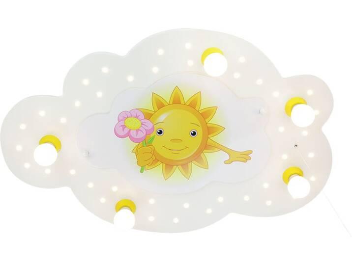 Deckenleuchte Sonne mit Blume 5/40 Weiß