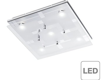 home24 LED-Deckenleuchte Chiron Silber