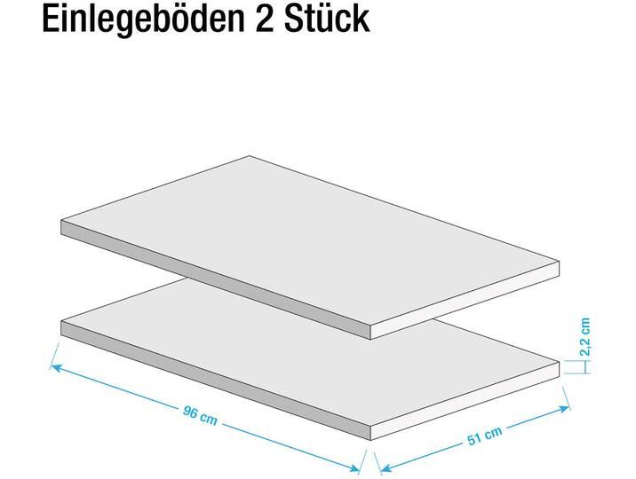 Einlegeboden Vedia (2er-Set) Weiß